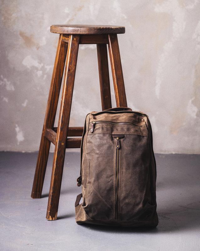 Стильный Городской Рюкзак с отделением для ноутбука. Коричненвый рюкзак. Повседневный рюкзак.
