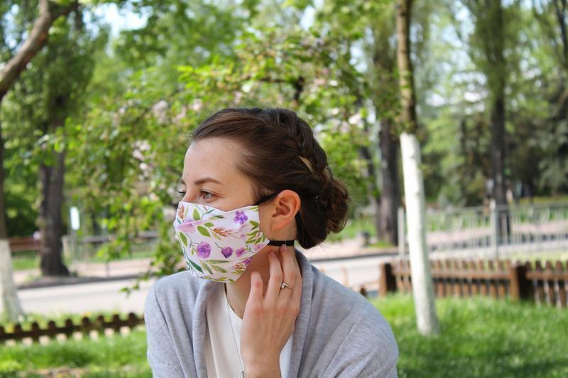 Многоразовые маски для лица Киев,  черная многоразовая маска, двухслойная маска Львов