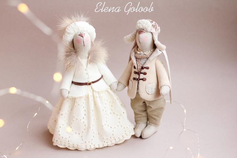 Пара зайчиків «Зимова казка»