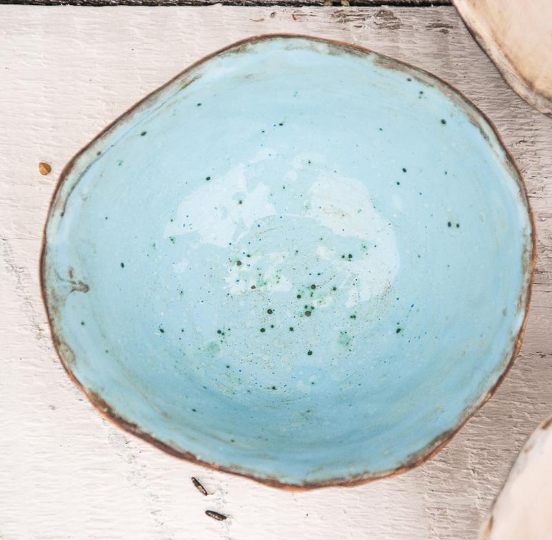 Пиала для десерта мороженого голубая 350 мл