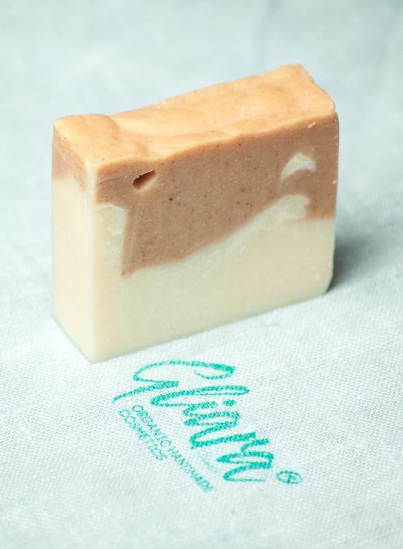 Мыло с красной марокканской глиной эфирным лавандовым маслом натуральное органическое