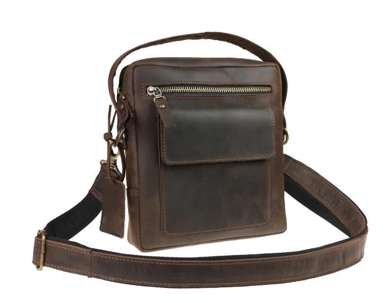 Именная кожаная сумка через плечо RX+, 5 цветов