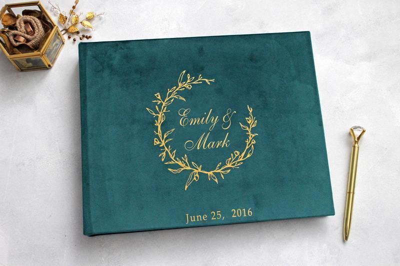 Изумрудный альбом, Весільний оксамитовий альбом, Семейный зеленый альбом, Подарок девушке