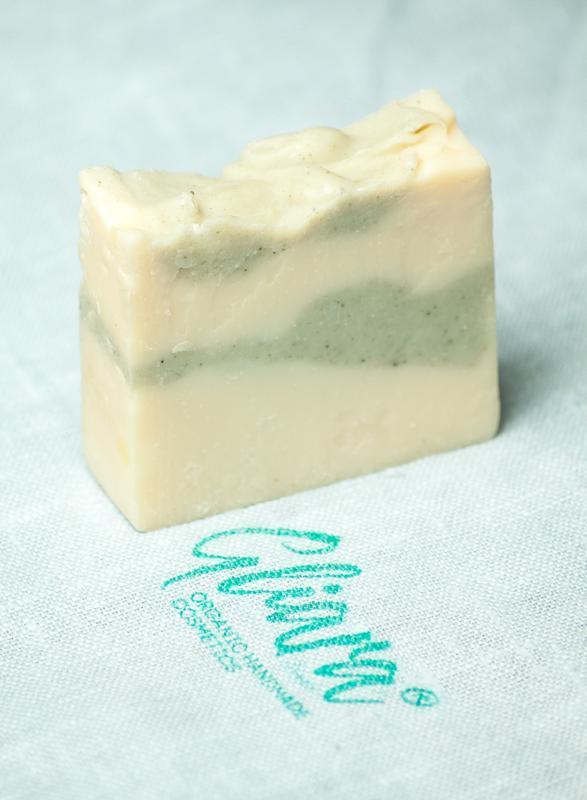 Мыло с белой глиной и эфирным маслом пихты натуральное органическое