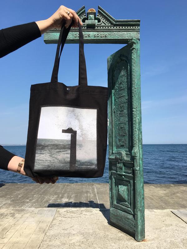 Арт шоппер с фото принтом Ланжерон 2, эко-сумка с карманом, сумка для покупок, эко-торба, авоська