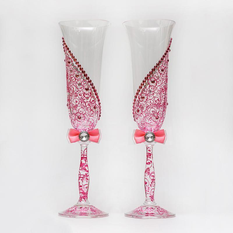 Келихи з рожевими візерунками (арт. WG-003)