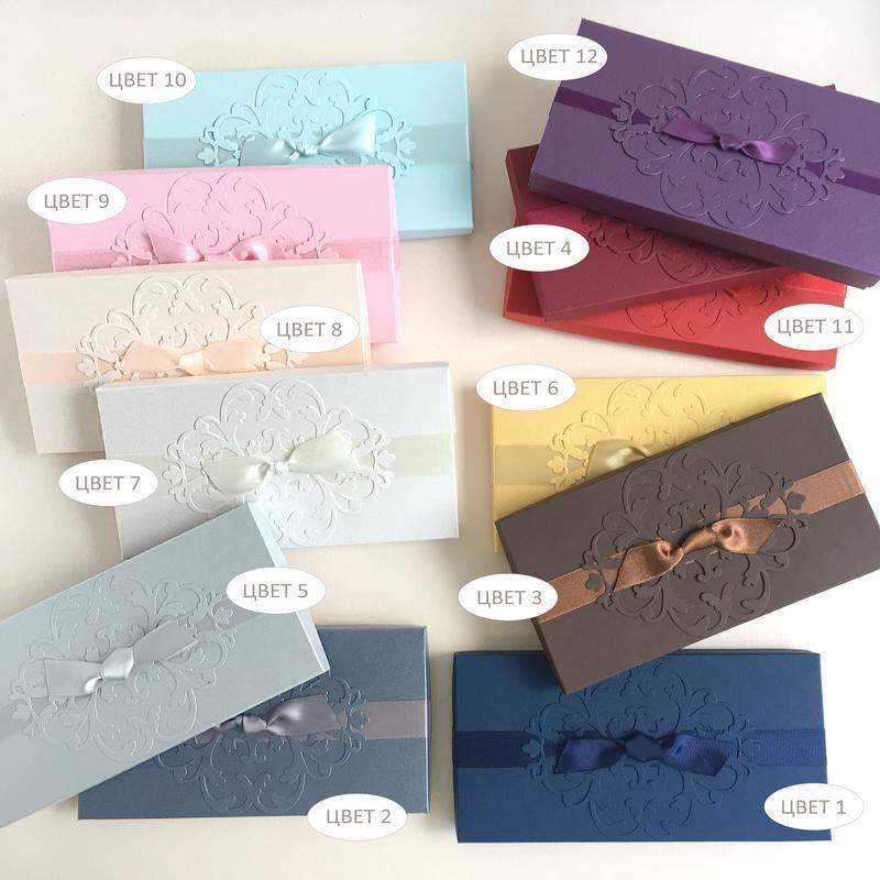 "GiftBox ""Pino""  Цвет 2 (платиновый) - открытка в коробочке"