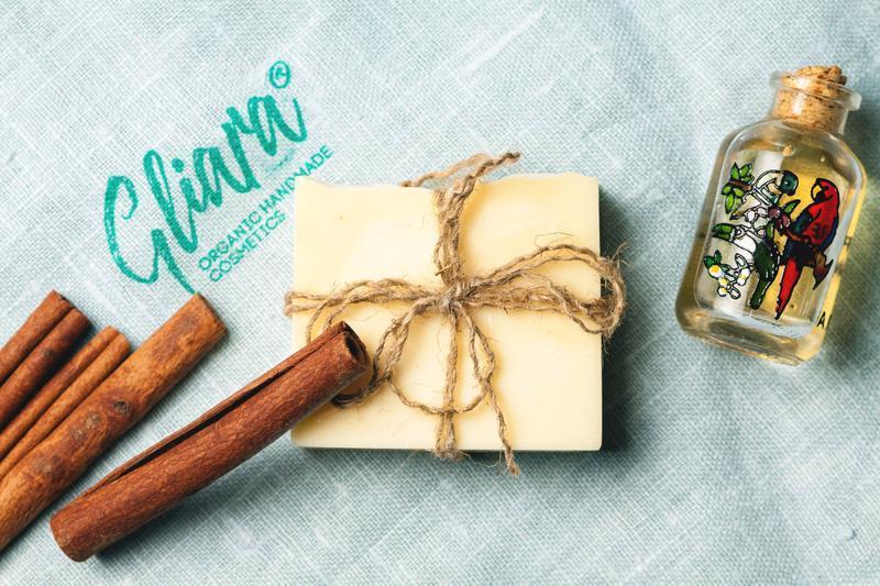 Мыло с эфирным маслом перечной мяты и ротоканом натуральное органическое