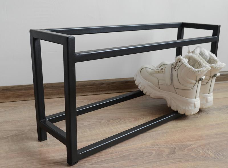 Полка для Обуви в Стиле Лофт, Полка для Обуви из Металла