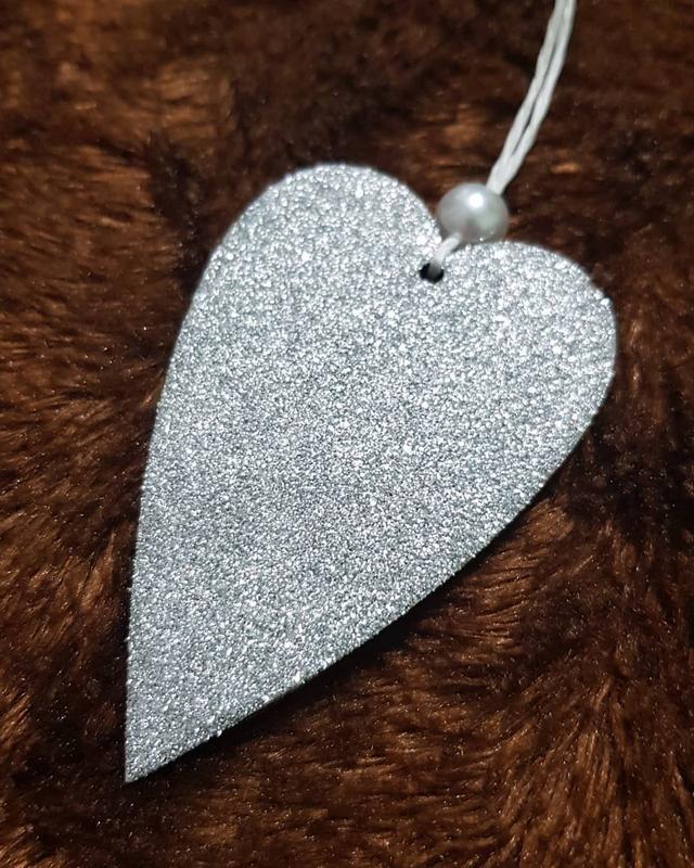 """Набор новогодних ігашок """"Влюбленные сердца"""""""