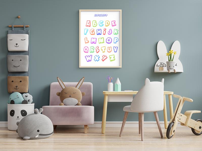 Постер для детской комнаты Английский алфавит