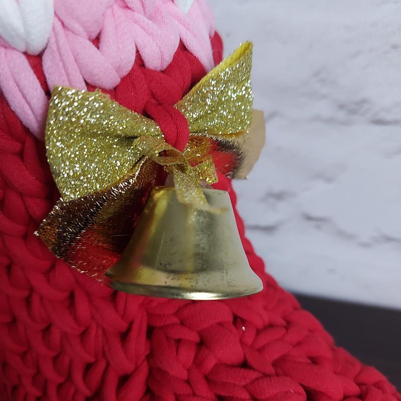 Новогодний сапожок, цвет Мак