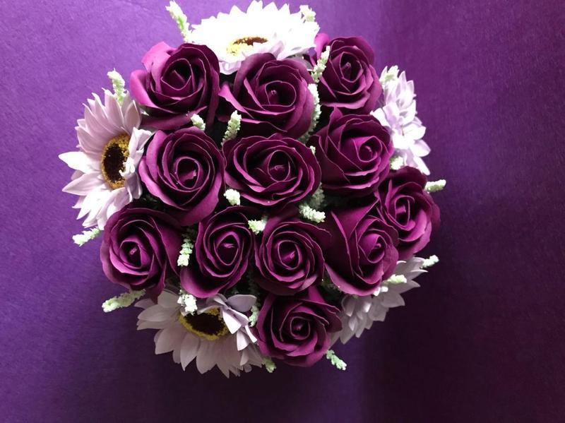 Букет из вспененного мыла, мыльные розы