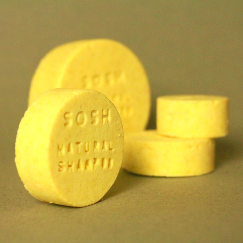 Твердый шампунь SOSH (S) для жирных волос, подсушивающий (лимон)
