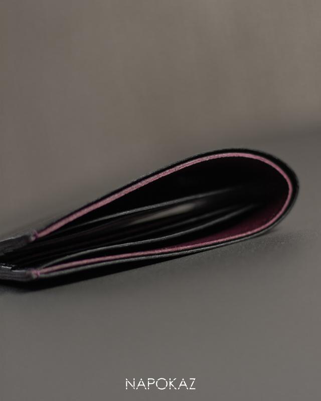 Мужской кошелек из натуральной кожи. Мужское портмоне. Кошелек бифолд