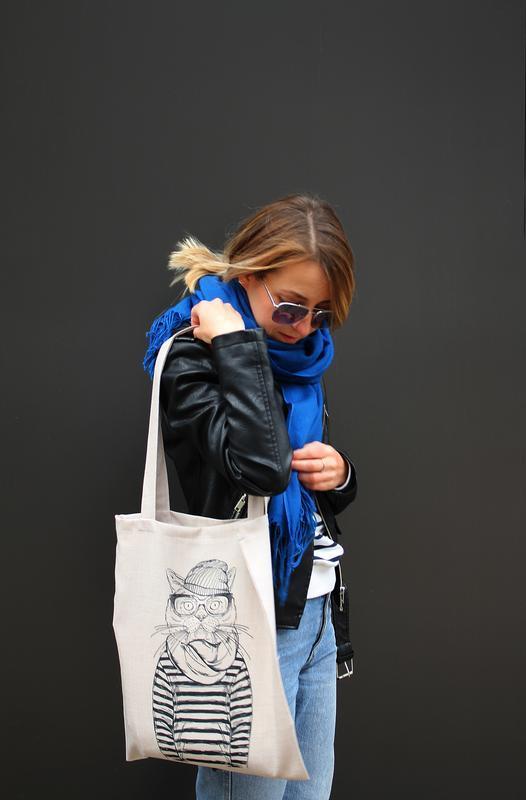 Экосумка кот киев, сумка киев, екосумка, эко сумка с логотипом, экосумка полосатый кот