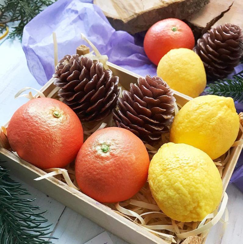 Мыло Мандарин, лимон, шишка