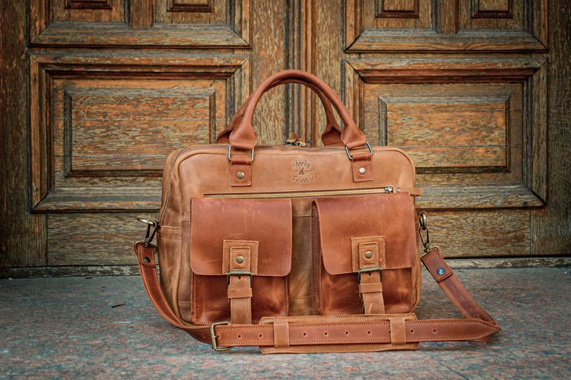 Мужской кожаный  деловой портфель Повседневная сумка для ноутбука