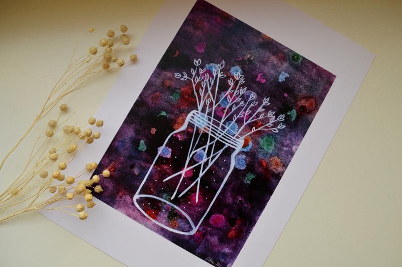 Постер в рамке. Авторская иллюстрация Весна