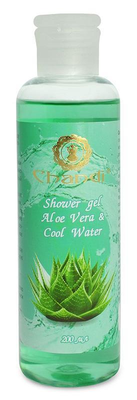 "Индийский гель для душа ""Aloe Vera & Cool Water"" Chandi"
