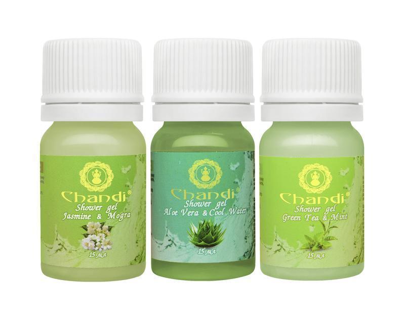 """Индийский гель для душа """"""""Green Tea & Mint"""" Chandi"""