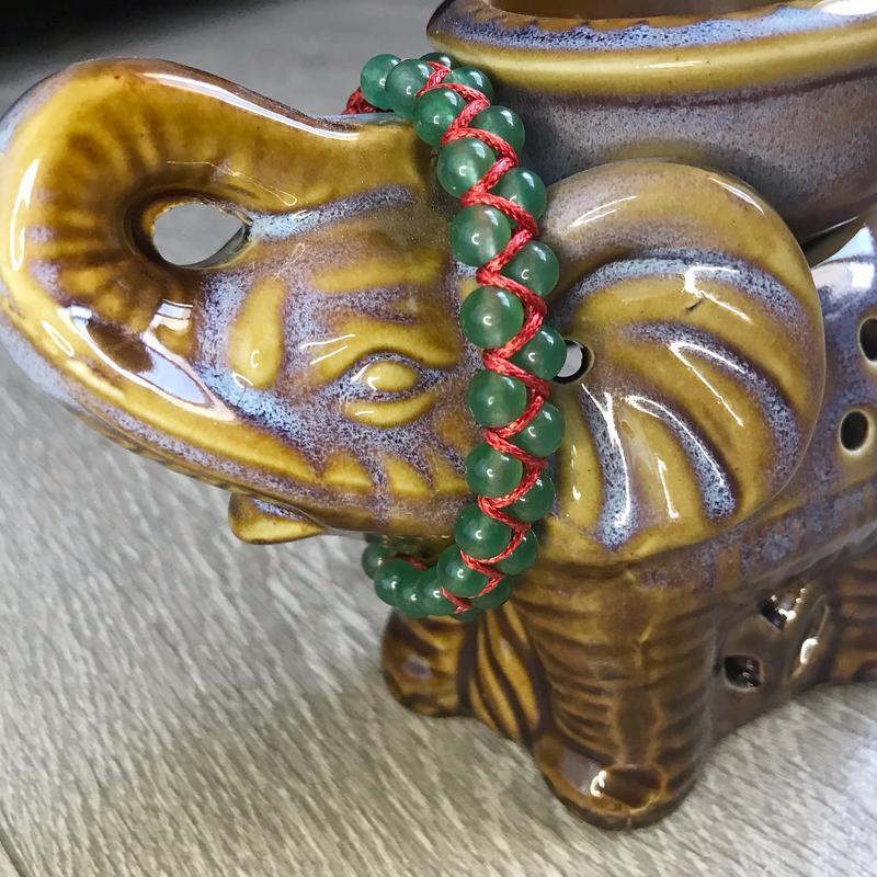 Двойной браслет из нефрита 6 мм