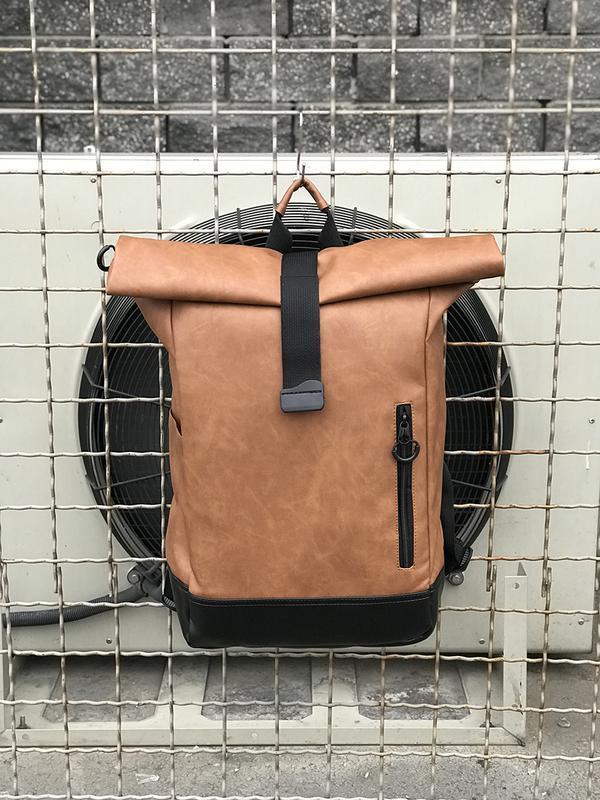 Городской роллтоп рюкзак из еко кожи