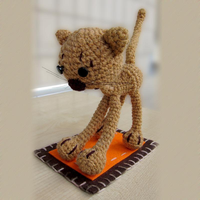 кот вязаный крючком игрушка ручной работы купить в украине 93883
