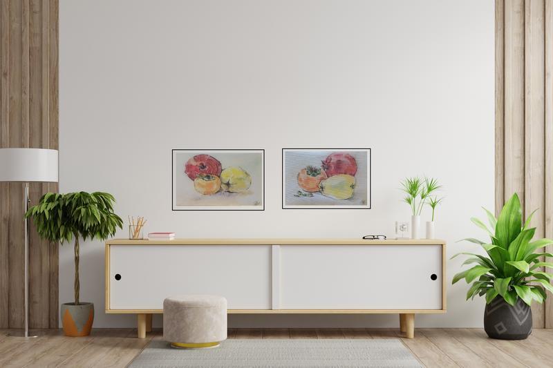 Гранат Хурма Айва. Средиземноморские фрукты.