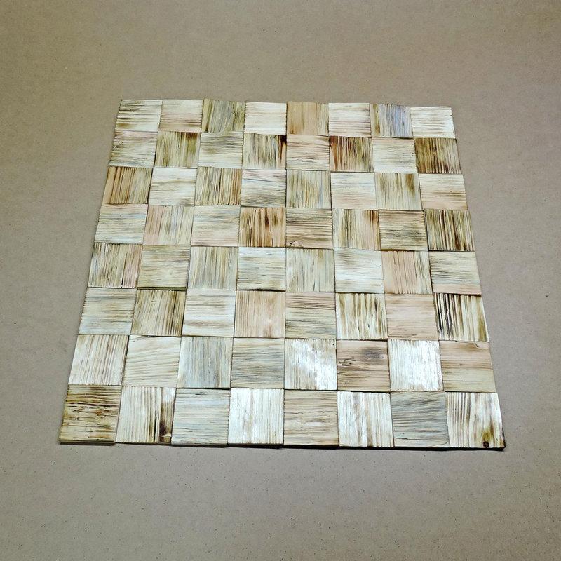 """Панно деревянное """"3D плитка 80"""" бенгала"""