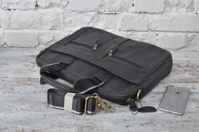cef0efda17e7 Мужская деловая кожаная сумка в сером, графитовом цвете. ручной ...