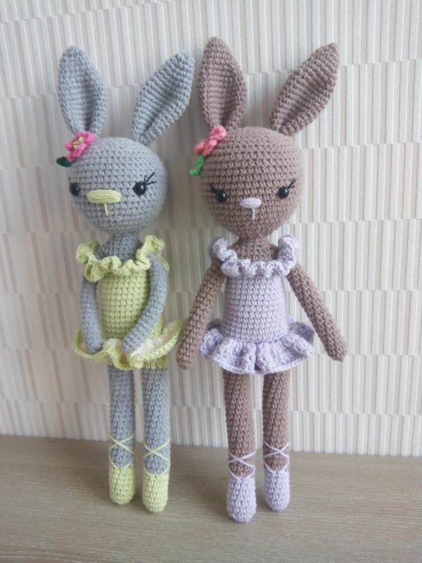 вязаная игрушка зайчик заяц ручной работы купить в украине 100780