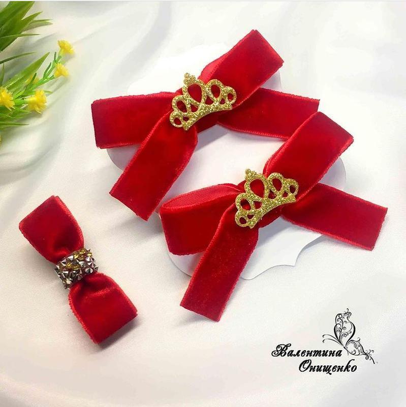 Набор бархатных бантиков для принцессы