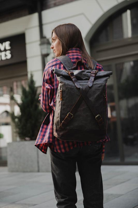 Рюкзак городской. Роллтоп. Рюкзак для ноутбука. Повседневный рюкзак