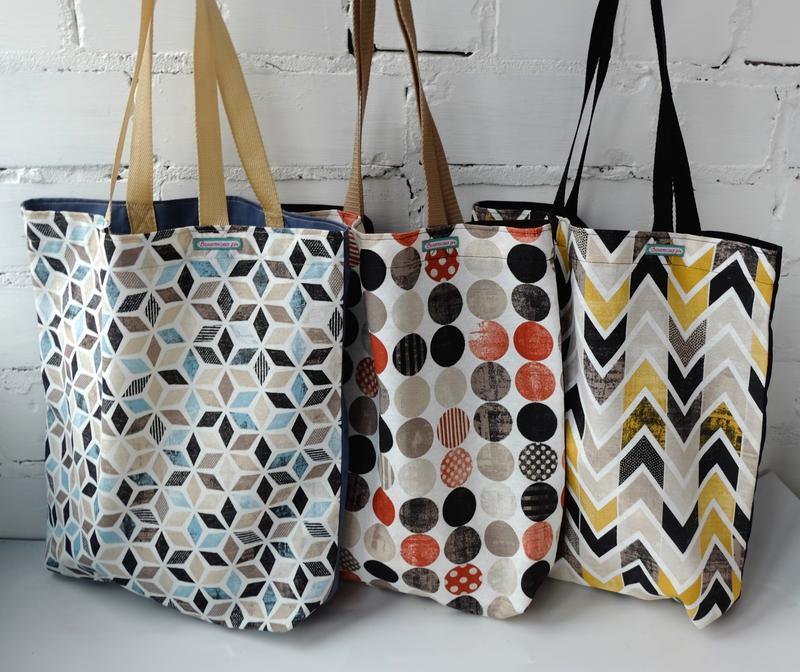Эко сумка для покупок, эко пакет, еко торба, шоппер с геометрическим принтом