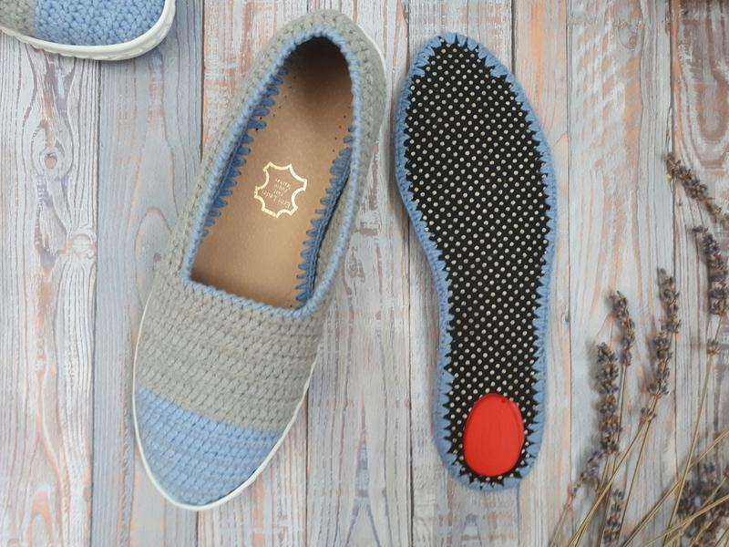 Вязаные слипоны, мокасины, летняя обувь, вязаная обувь на заказ, эспадрильи, тапочки