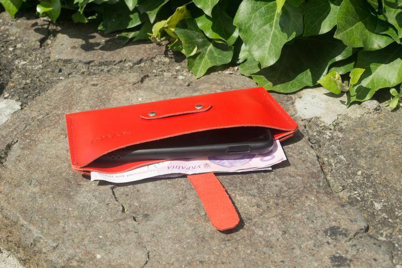 Кошелек чехол для телефона (red)