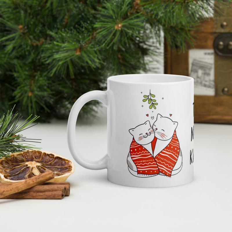 Кружка в подарок ко Дню влюбленных (Ты моя киса), Чашка с рисунком