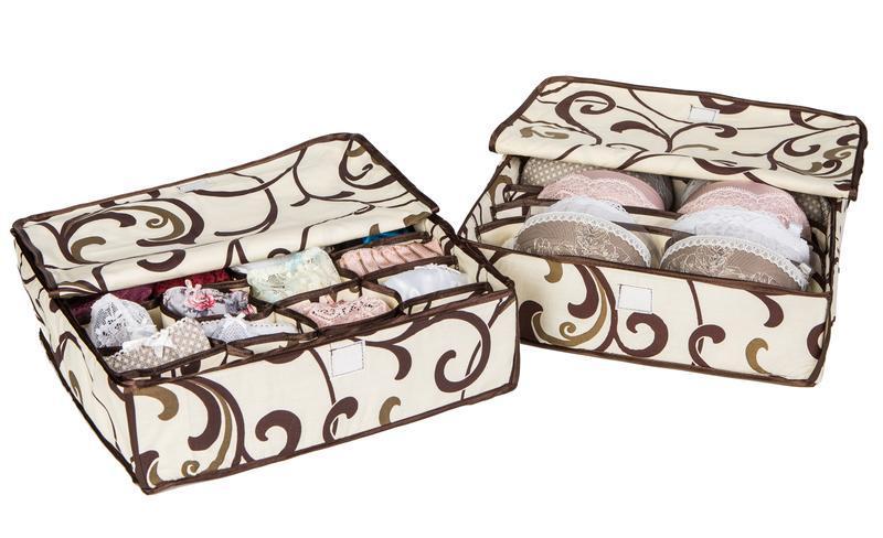 Органайзер для белья с крышкой (для трусиков, колготок и носочков)