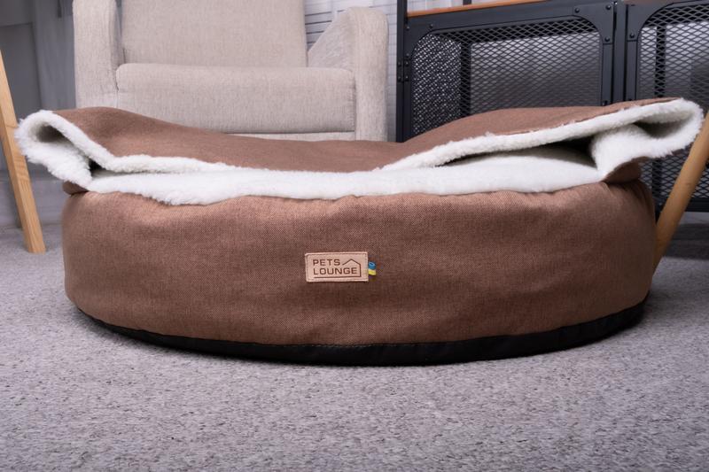 Лежак для собак і котів Pets Lounge Blanket, коричневий