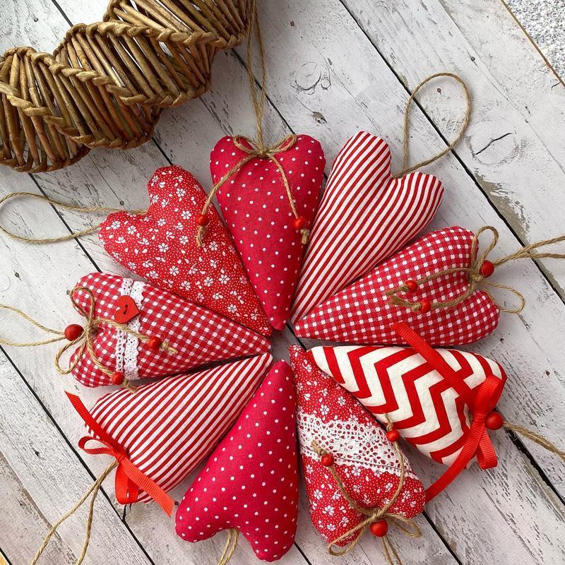 Набор валентинок сердец на 14 февраля День Святого Валентина