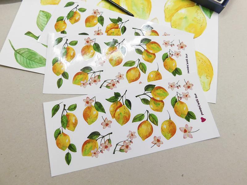Наклейки стикеры лимоны