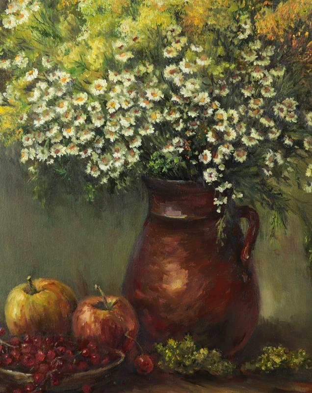 """Картина маслом """"Полевые цветы"""" 50х40 см, холст на подрамнике, масло"""