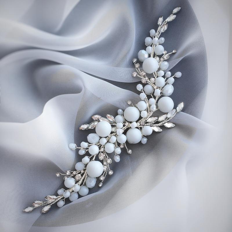 Свадебное украшение для волос, матовая веточка в прическу, веточки для волос, украшения для причесок