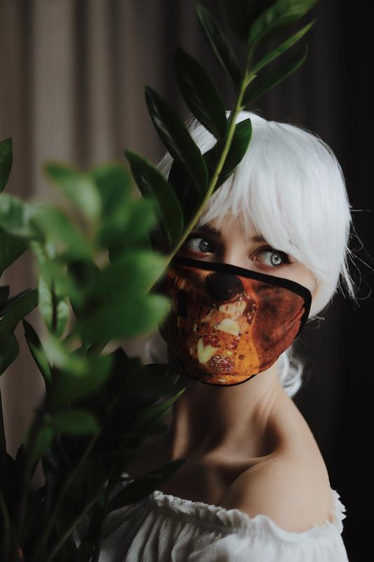 Маска  Клімт Поцілунок. Оригінальна багаторазова маска для обличчя