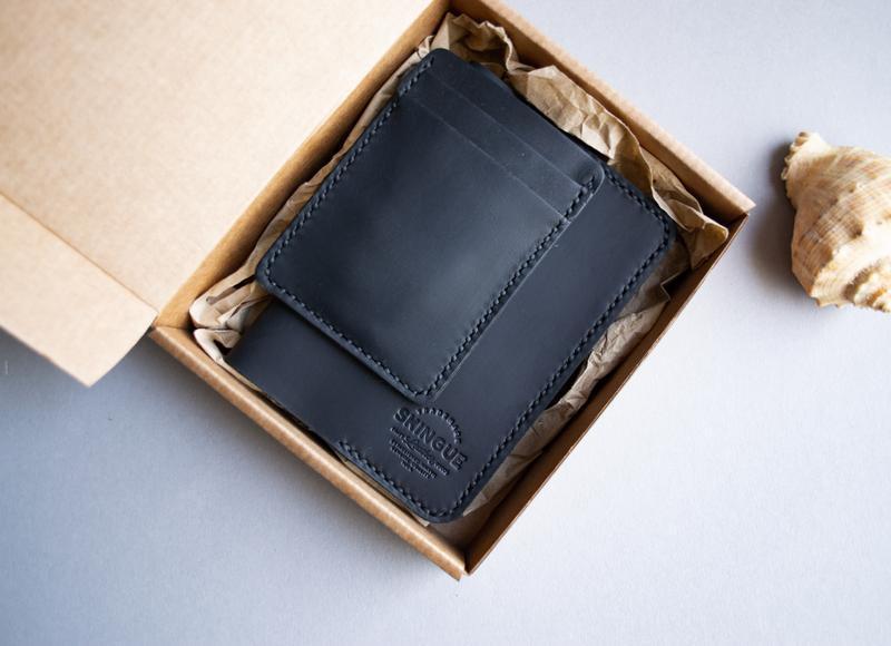 Обкладинка для паспорта + кардхолдер черний комплект