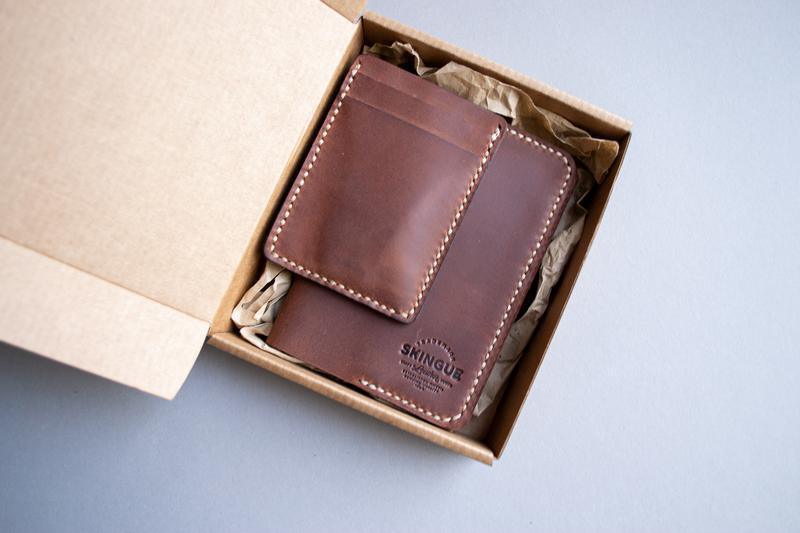 Обкладинка для паспорта + кардхолдер коричнева, комплект
