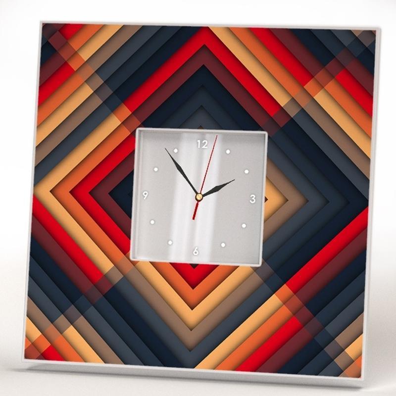 """Часы с авторским дизайном в спальню """"Узор"""""""