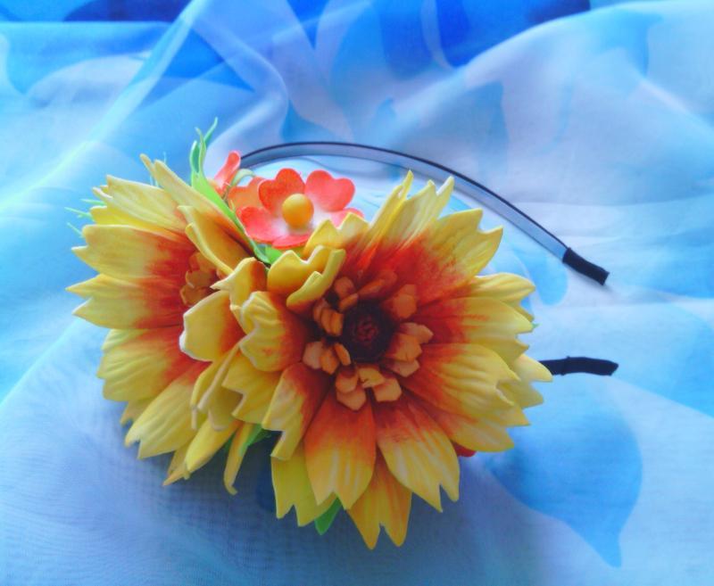 """Ободок """"Сонячні квіти"""""""