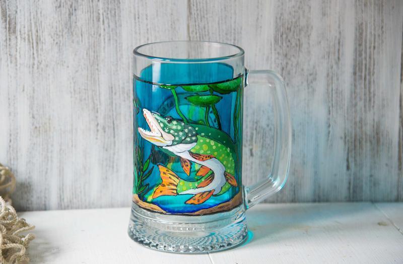 Пивной бокал ′Лучший рыбак′